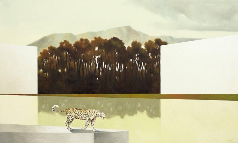 Dentro al bosco Olio su tela 60x100 cm 2019