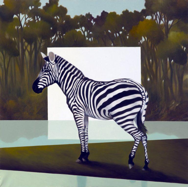Foresta dellentrata Olio su tela 80x80 cm 2016