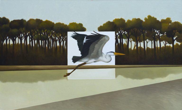 La misura della pineta Olio su tela 60x100 cm 2018