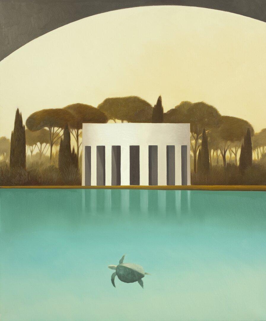 Laguna dei pini - Olio su tela, 60x50 cm, 2011