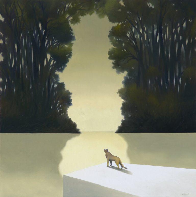 Laguna delle foreste Olio su tela 60x60 cm 2016