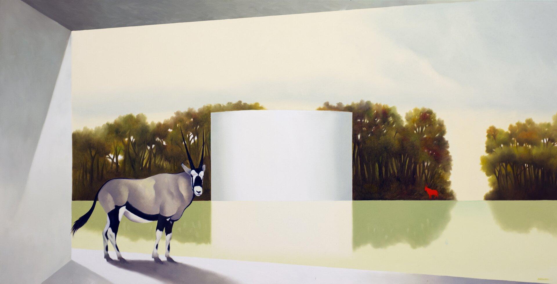 Passaggio dell'incontro - Olio su tela, 60x120 cm, 2019