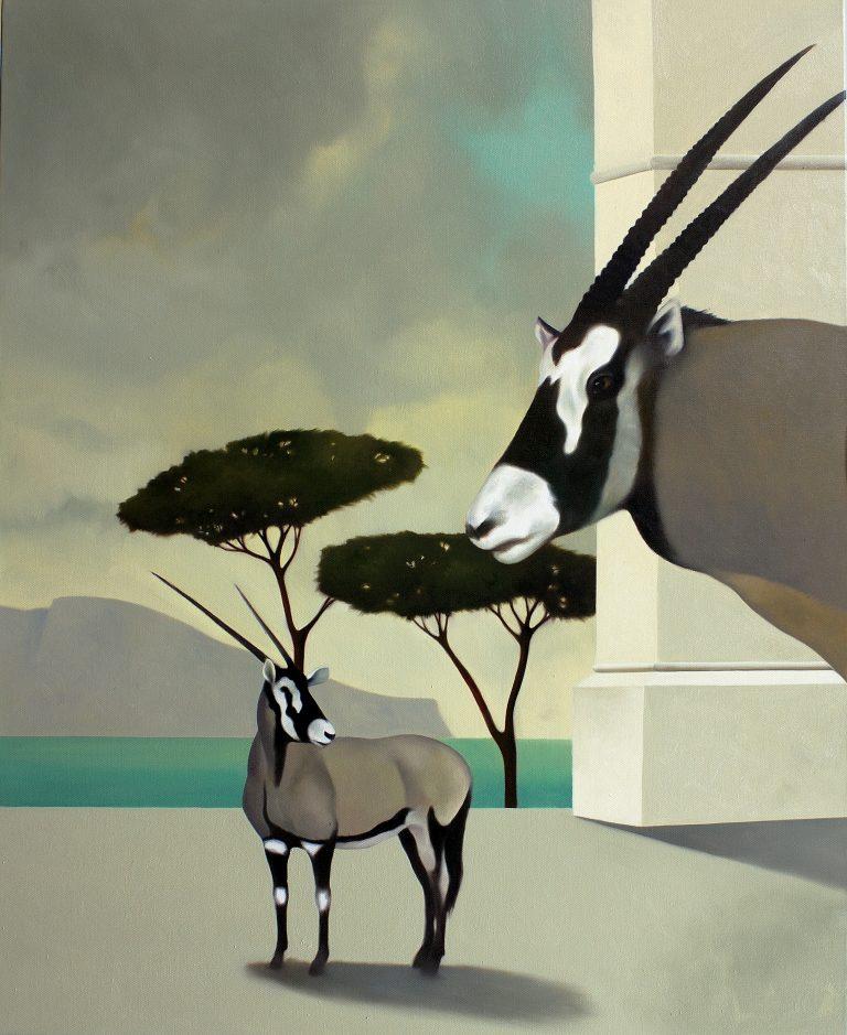 Gli orici di Federico olio su tela 100x80 2008