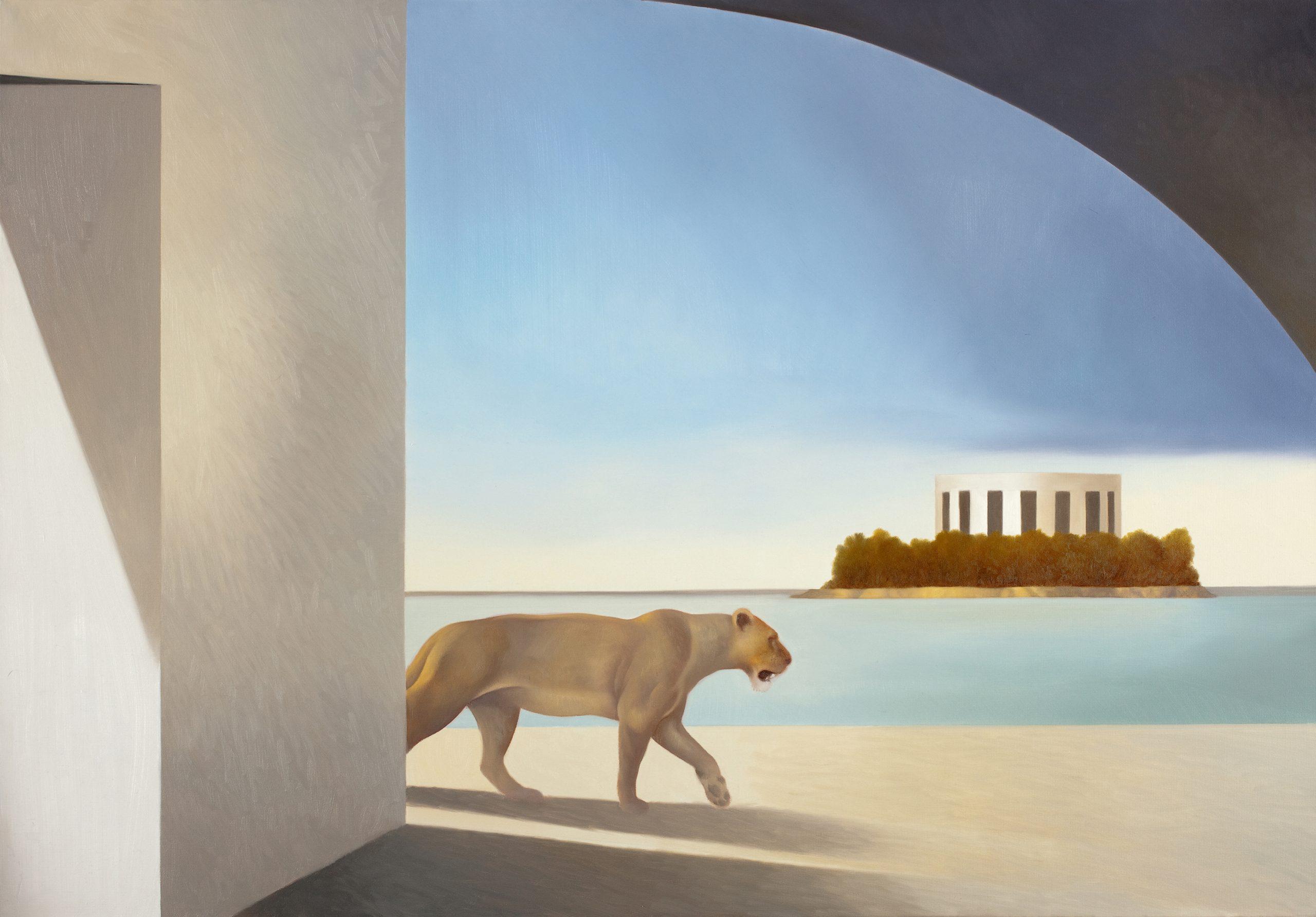 L'isola riservata - Olio su tela, 80x100, 2011