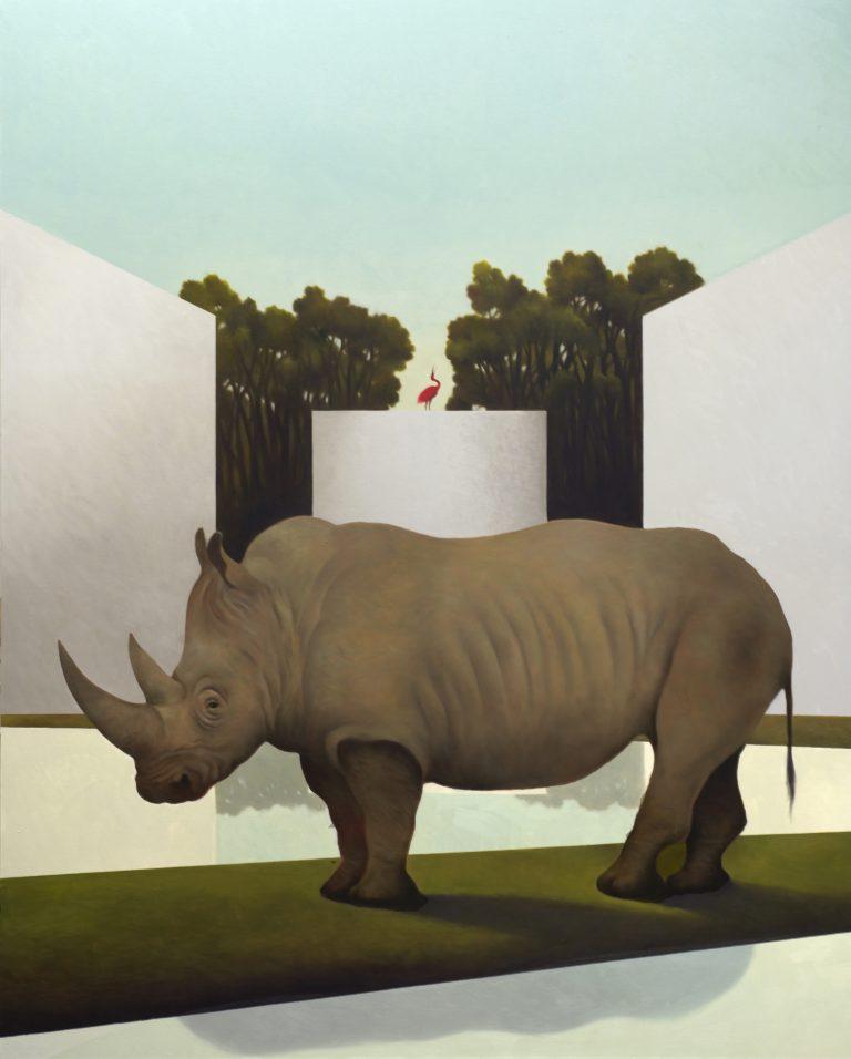 Teatro dell'enigma - Olio su tela, 150x120 cm, 2018